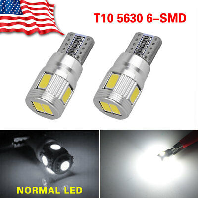 2X  Canbus Error Free White T10 5630 6SMD Wedge LED Light bulbs W5W 168 259 194
