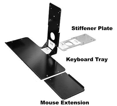 Keyboard Tray MINI VESA Mouse Kit Tray,Mouse Extension and Stiffener plate