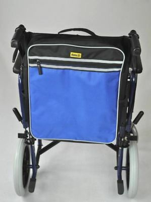 Blue Standard Universal Mobility Scooter Backrest Bag Sack Disability Aid