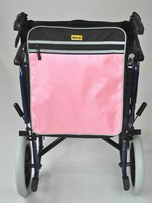 Pink Mobility Scooter Backrest Bag With Crutch Sleeves Disability Aid