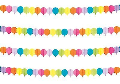 4M Multicoloured Balloon Rainbow Summer Party Decoration Garland Bunting