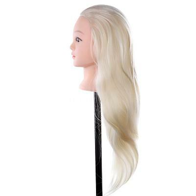 Professional Soft Salon Training Hairdressing Hair Cut Head Mannequin With Clamp