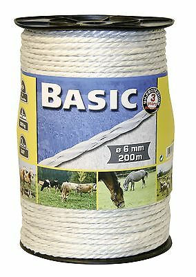 Corral Basic Fencing Rope C/w S/steel Wires Equine Horse Fencing