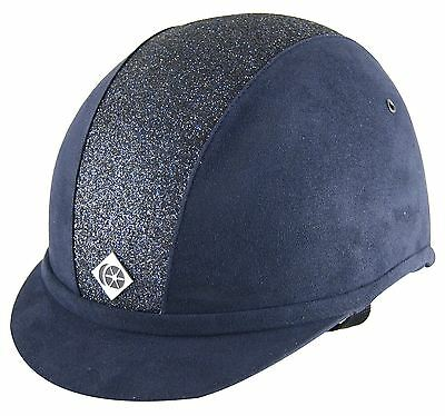 Charles Owen Yr8 Sparkly Navy/navy Bling Equine Horse Hats
