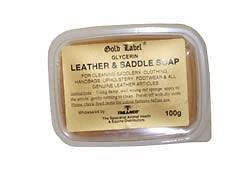 Gold Label Glycerin Leather & Saddle Soap Equine Horse Leather Care