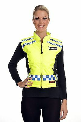 Equisafety Polite Quilted Gilet Please Slow Down Equine Horse Rider Safety Wear