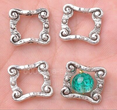 10pcs Tibetan silver rectangular bead loose spacer beads 16x14mm A3111