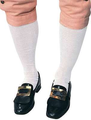 Colonial Socks Mens White Colonial Stockings One Size