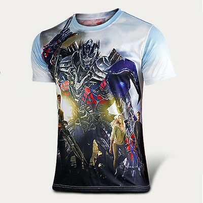 NEW Mens Tee of Transformers T-shirt Short Sleeve Personalized Casual Sport Tops