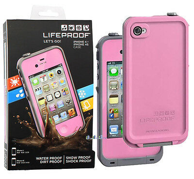 New Lifeproof fre Waterproof Protective Tough Case Cover For iPhone 4/ 4S - Pink