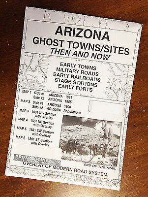 ARIZONA Edition GHOST TOWNS  & Sites Then and Now MAPS map