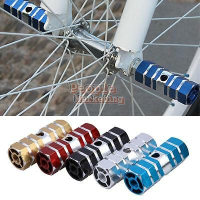 P4PM 2pcs Mountain Axles Aluminum Stunt Foot Pegs Pedal for BMX Bicycle Cycling