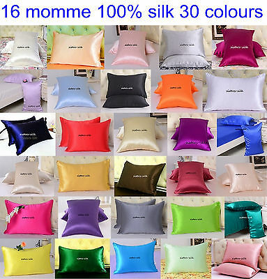 1pc 16 Momme 100% Pure Silk Pillowcase Standard Queen King Kids Baby Travel size
