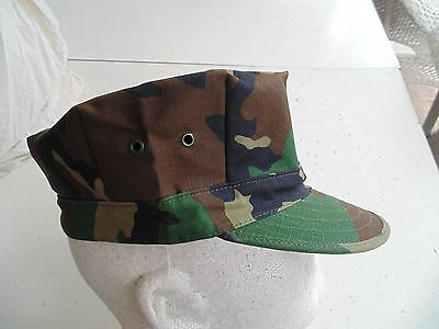 Usmc Us Marine Corps Ripstop Woodland Bdu Camo Combat Cap 8 Point Cover Size Md