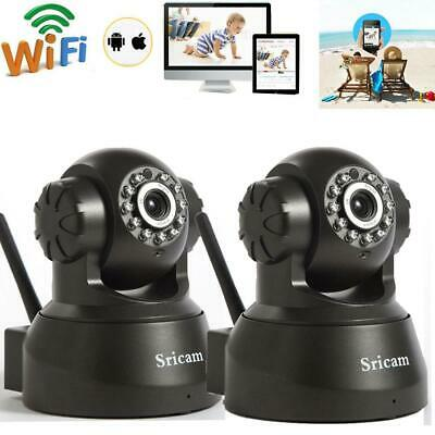 Sricam 720P HD Wireless Wifi IR-Cut Outdoor Network Pan/Tilt IP Camera Day Night