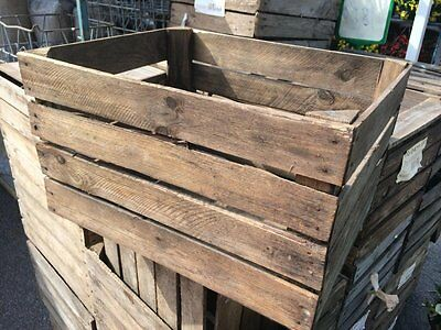 European Vintage Wooden Apple Box / Crate - Shelves Storage Bookcase Display...