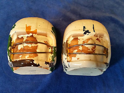 Lot Of 2 Vintage Napcoware Football Head Bookend dishes