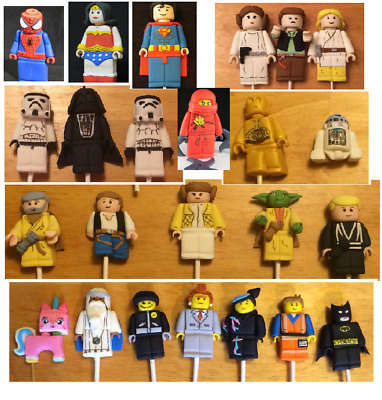 Edible Lego Movie Star Wars Superheros Mini Figures 3D Cake Topper Decoration