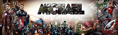 Avengers Age of Ultron Name Poster Custom Banner Moive Art Wall Decor