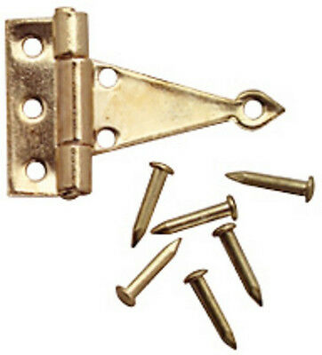 T Hinges Gold 4 Pack, Dolls House Miniature D.I.Y Fixtures & Fittings