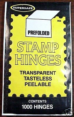 SuperSafe ( Supersafe ) Stamp Hinges ( Lowest Price )  -  Free USA Shipping