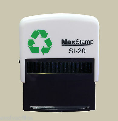 PERSONALISED RUBBER STAMP, SELF INKING, NAME ADDRESS BUSINESS GARAGE SCHOOL etc