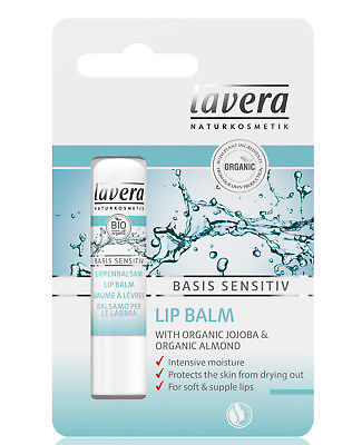 Lavera Basis Sensitive Lip Balm 4.5g FREE P&P