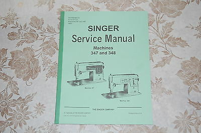 Professional Full Size Service Manual on CD for Singer 347 & 348 Sewing Machines