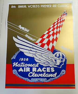 1938 National Air Races Poster  Cleveland Ohio