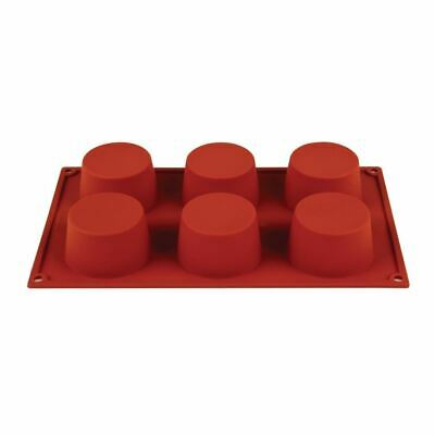 Pavoni Formaflex Silicone 6 Muffin Mould 4X7cm Baking Tool Dishwasher Safe