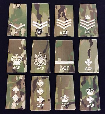 Ivory MTP Army Cadet Force Rank Slides Ivory Thread ACF MTP Slides Rank Slides
