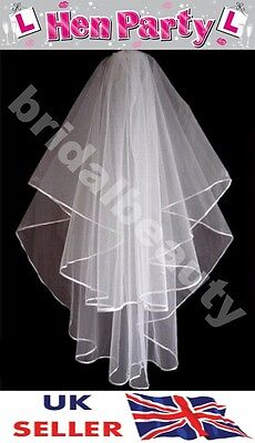 Bride to Be Hen Night Veil Halloween Party Black Fancy Dress Gothic Costume New