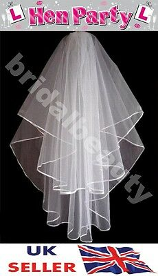 UK Bride to Be Hen Night Veil Party Black Fancy Dress Gothic Costume Blood Marks