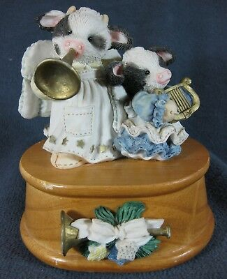 Marys Moo Moos Angels We Have Herd On High 651699 Christmas Music Box 1994