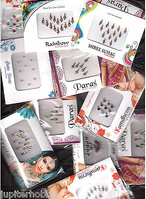 6  Different -  Full Packets - BINDIS / Temporary Tattos - FREE SHIPPING