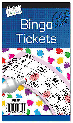 600 Bingo Game Single Ticket Card Flyer Pads Book 100 Sheet Security Coded Party