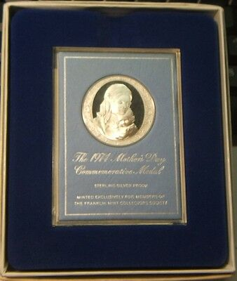 Franklin Mint~1974 Mother's Day Commemorative Proof Medal~~Beautiful Display