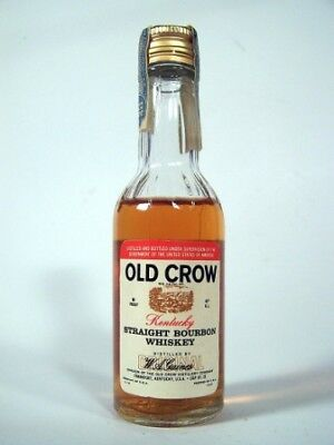 Miniature circa 1975 Old Crow Bourbon Isle of Wine