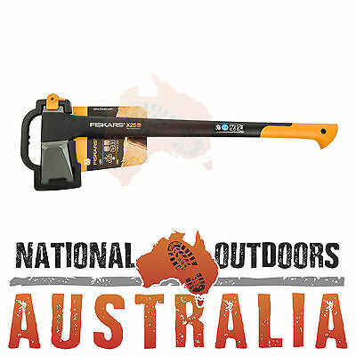 """Brand New Fiskars X25 Axe 720mm 28"""" with FibreComp Handle Camping or the Garage"""