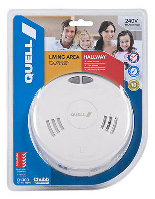 Quell Photoelectric Smoke Alarm 240V.  Has Interconnect to other same units