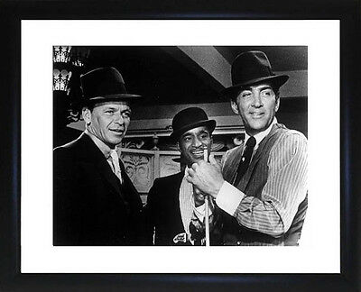 Rat Pack Dean Martin Frank Sinatra and Sammy Davis Jnr Framed Photo CP0341