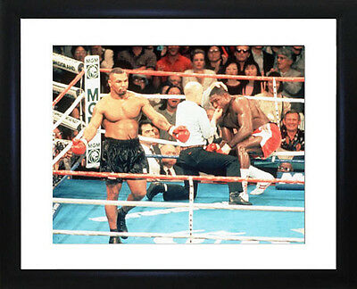 Frank Bruno  And Mike Tyson Framed Photo CP1069