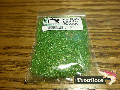 Ice Dub Caddis Green Hareline Dubbin - New Fly Tying Dubbing