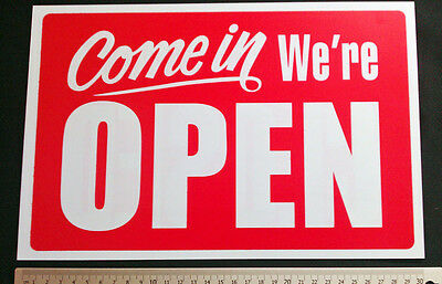 Open /  Closed  Large  Sign  30 x  23cm  1 pc Thin Plastic  Shop Window Sign