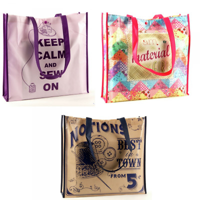 Sewing Themed Bag for Life Reusable Tote Polypropylene Bags