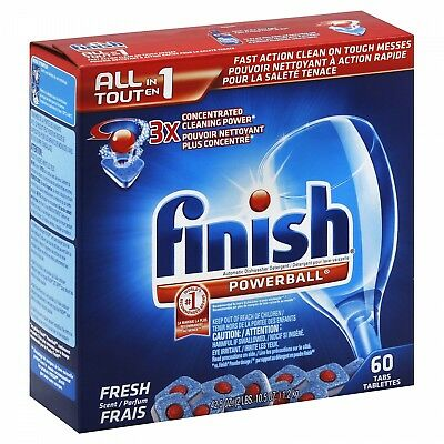90 ct -Finish Powerball Tabs All in 1 Dishwasher Detergent Tablets Fresh Scent