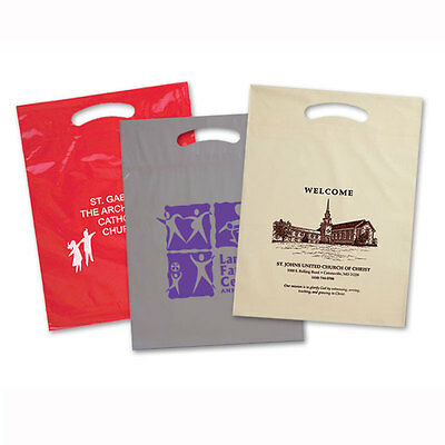 """PLASTIC BAGS, Size 9"""" x 13"""" - 500 quantity - Custom Printed with Your Logo"""