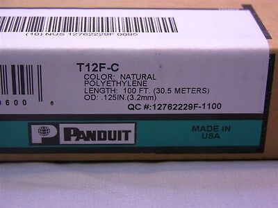 "100Ft Box of Panduit T12F-C .12"" (3.2mm) Spiral Cable Wrap Natural Color"
