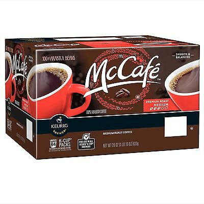 McCafe Premium Roast Coffee K Cups 84 K-cup Single Packs for Keurig Brewers