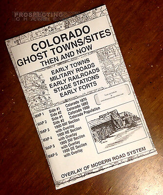 COLORADO Edition GHOST TOWNS  & Sites Then and Now MAPS map